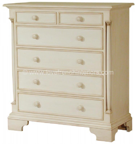 Roseline 2 over 4 Drawer Chest